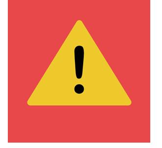 point d'intérogation dans un triangle jaune